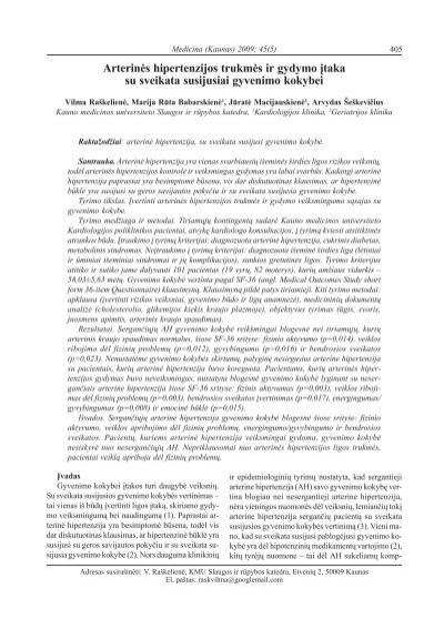 hipertenzijos gydymo klausimai ir atsakymai)