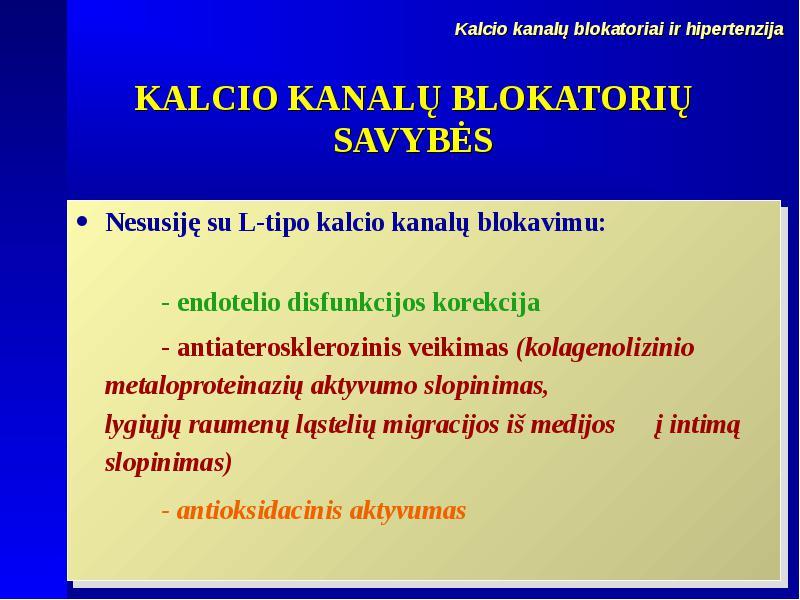 Lerkapino vaidmuo gydant hipertenziją