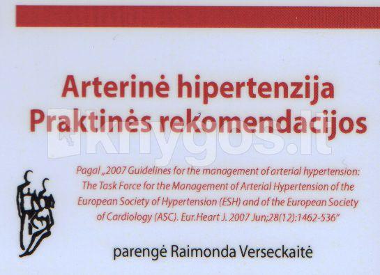 kas rekomenduoja hipertenziją