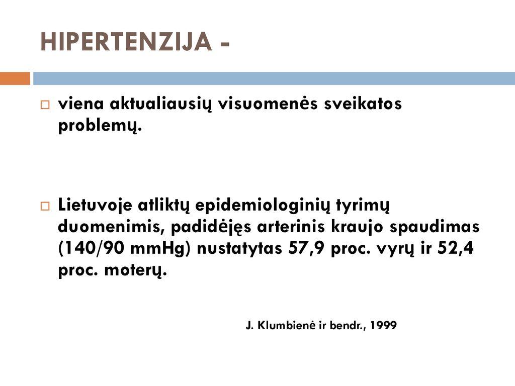 kaip nustatyti hipertenziją