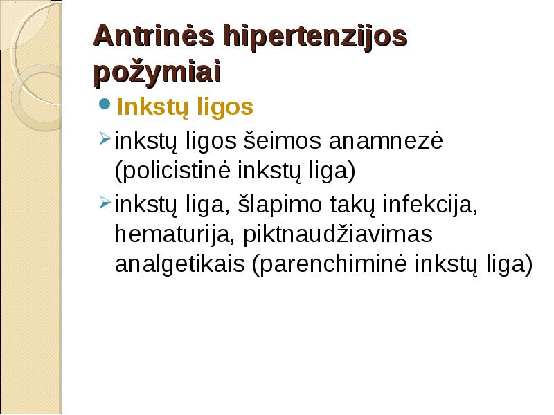 hipertenzijos nustatymas)
