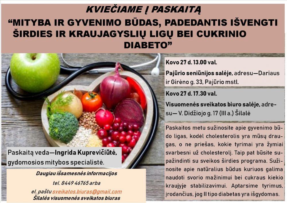 sveika mityba širdies sveikatai