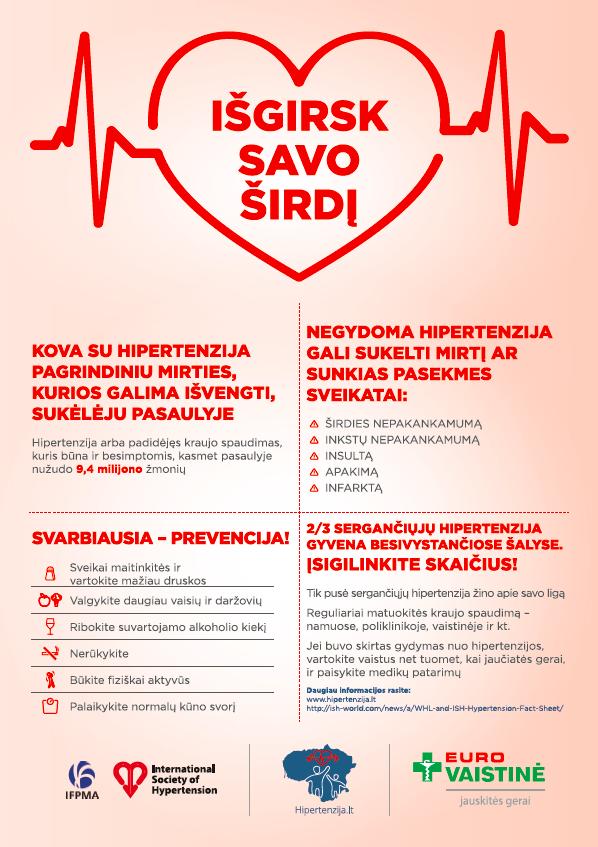 miokardo hipertenzija)