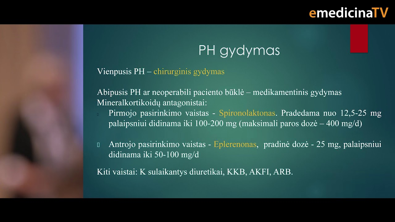 hipertenzija ir e gydymas