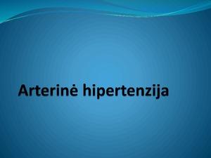 hipertenzija su endokrininėmis ligomis