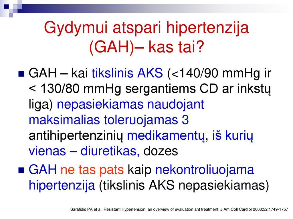 hipertenzija 3 st kas tai