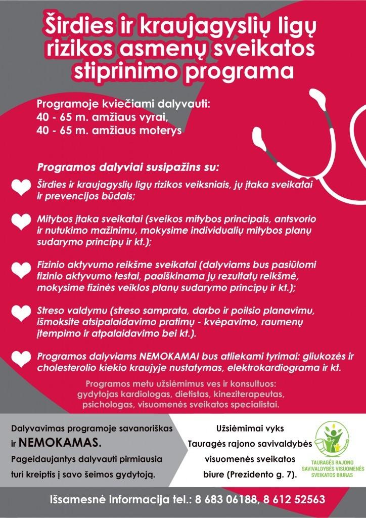 Širdies ir kraujagyslių ligų prevencijos programa Archyvas