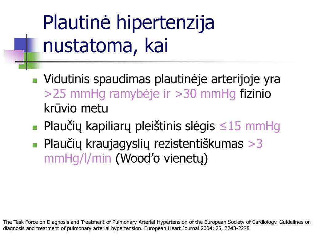 veninė plaučių hipertenzija