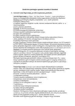 Bendrosios patologijos egzamino klausimai ir atsakymai