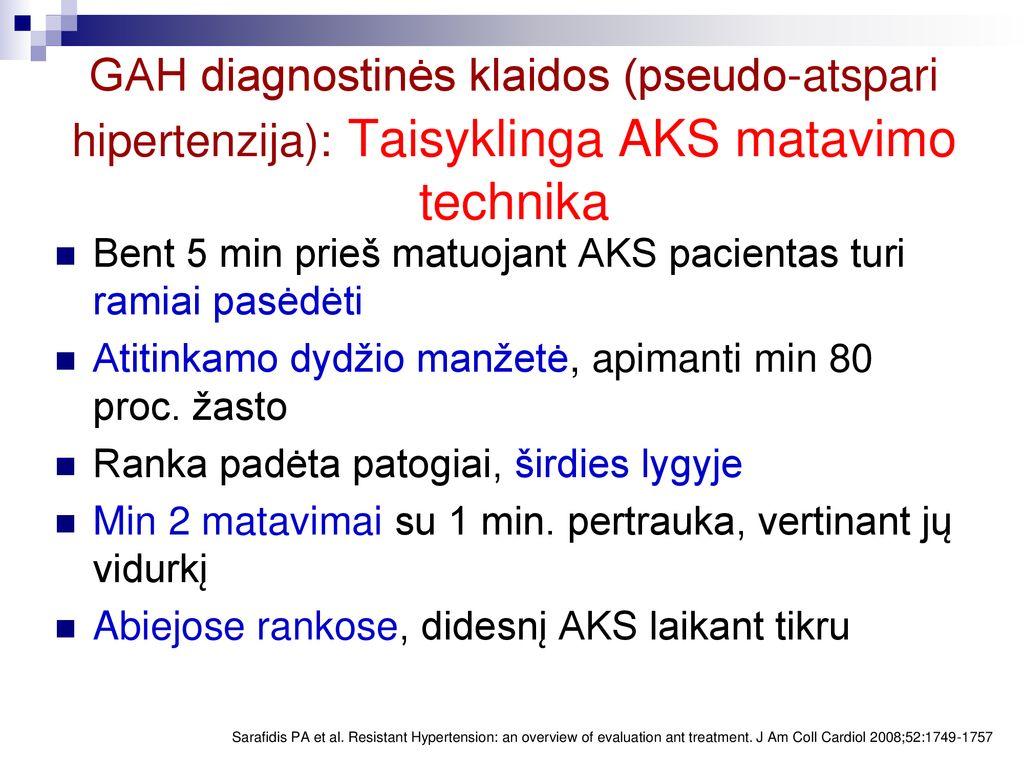 hipertenzijos gydymo laikymasis