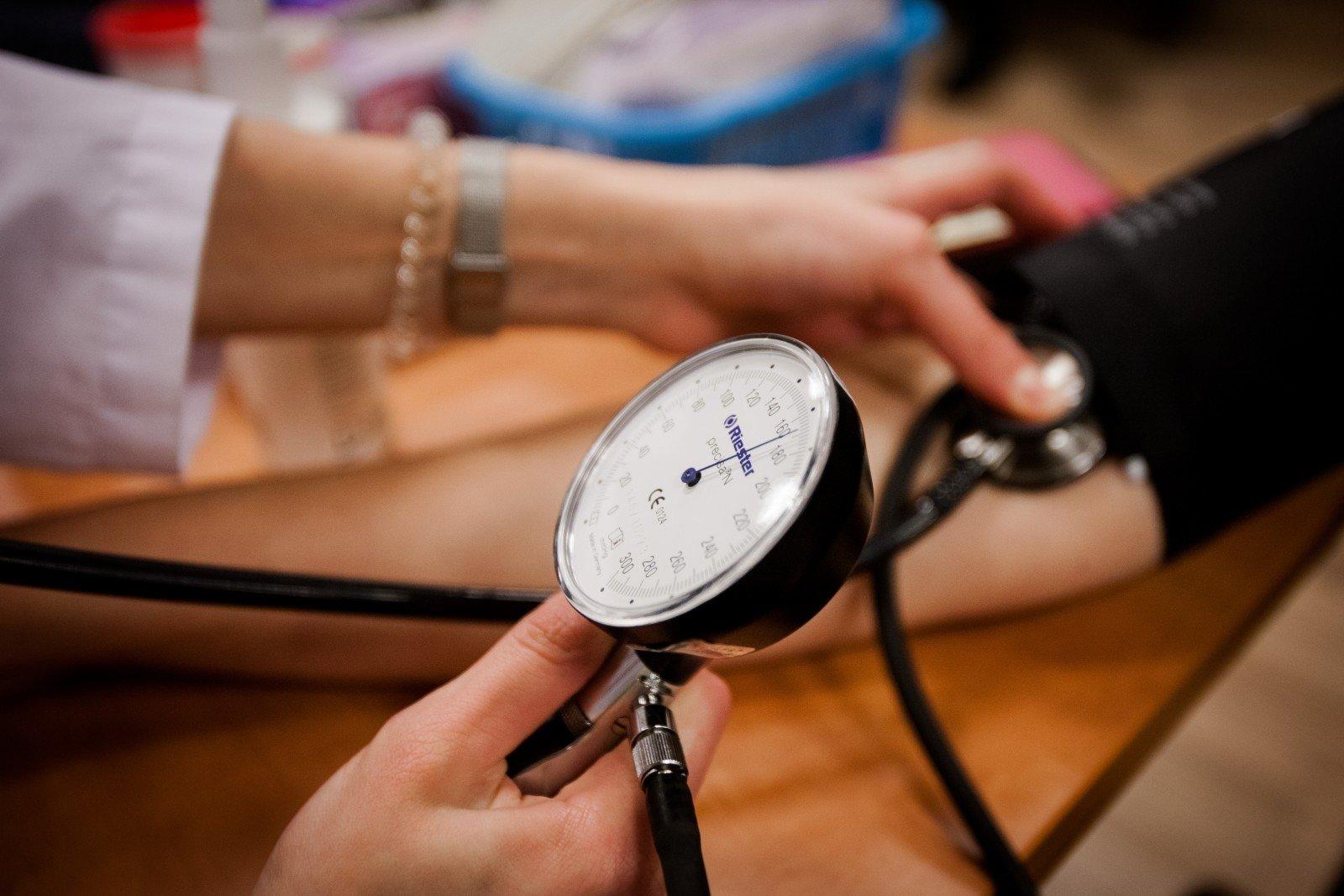 hipertenzija skirtingas spaudimas rankoms