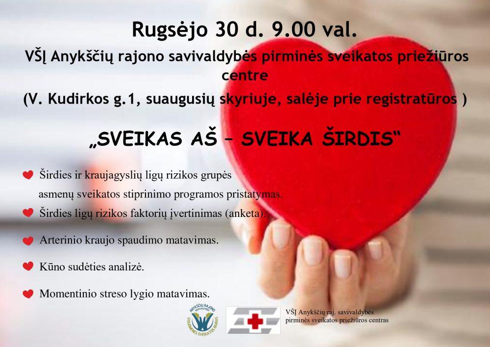 sveikatos baitų širdis)