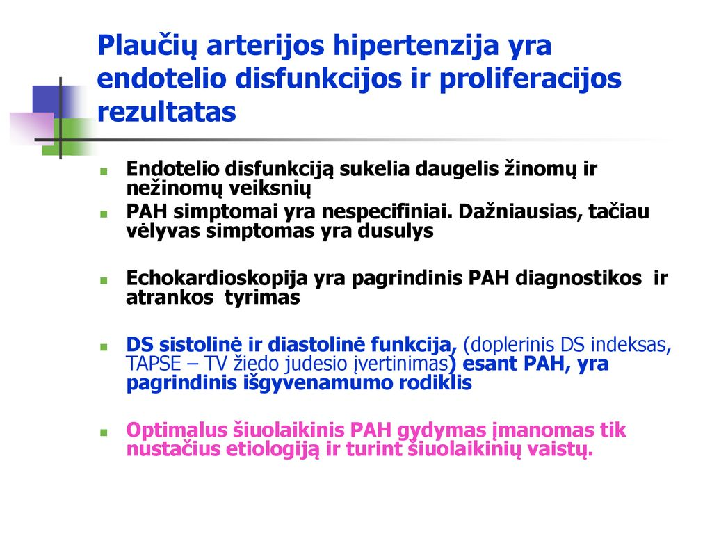 veninė plaučių hipertenzija)