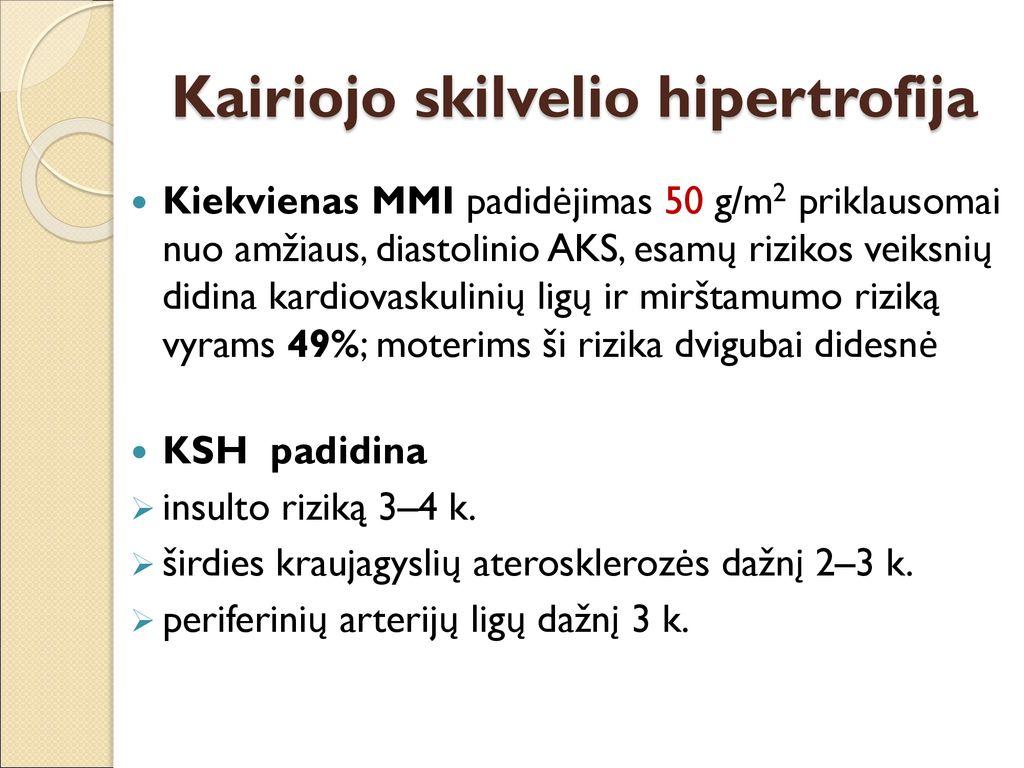moterų hipertenzijos priežastys po 50