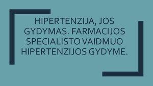 hipertenzijos veiksmų planas hipertenzijos gydymo rezultatai
