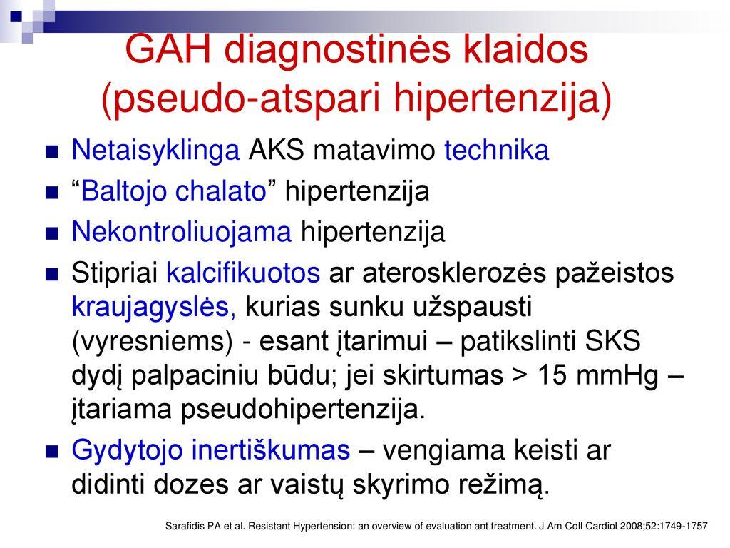 hipertenzijos gydymas inkstų patologijoje