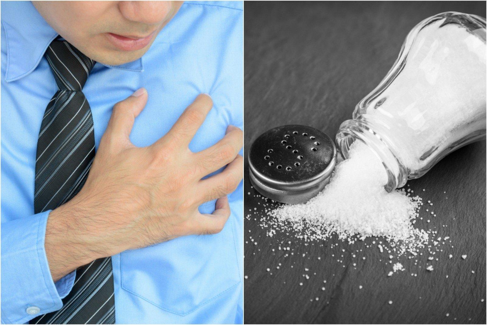 vanduo su druska nuo hipertenzijos