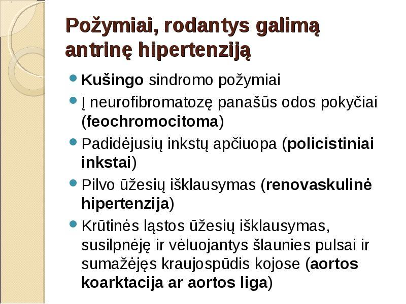 hipertenzija aortos padidėjimas