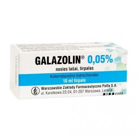 GALAZOLIN mcg/ml nosies lašai (tirpalas) ,10ml - Camelia