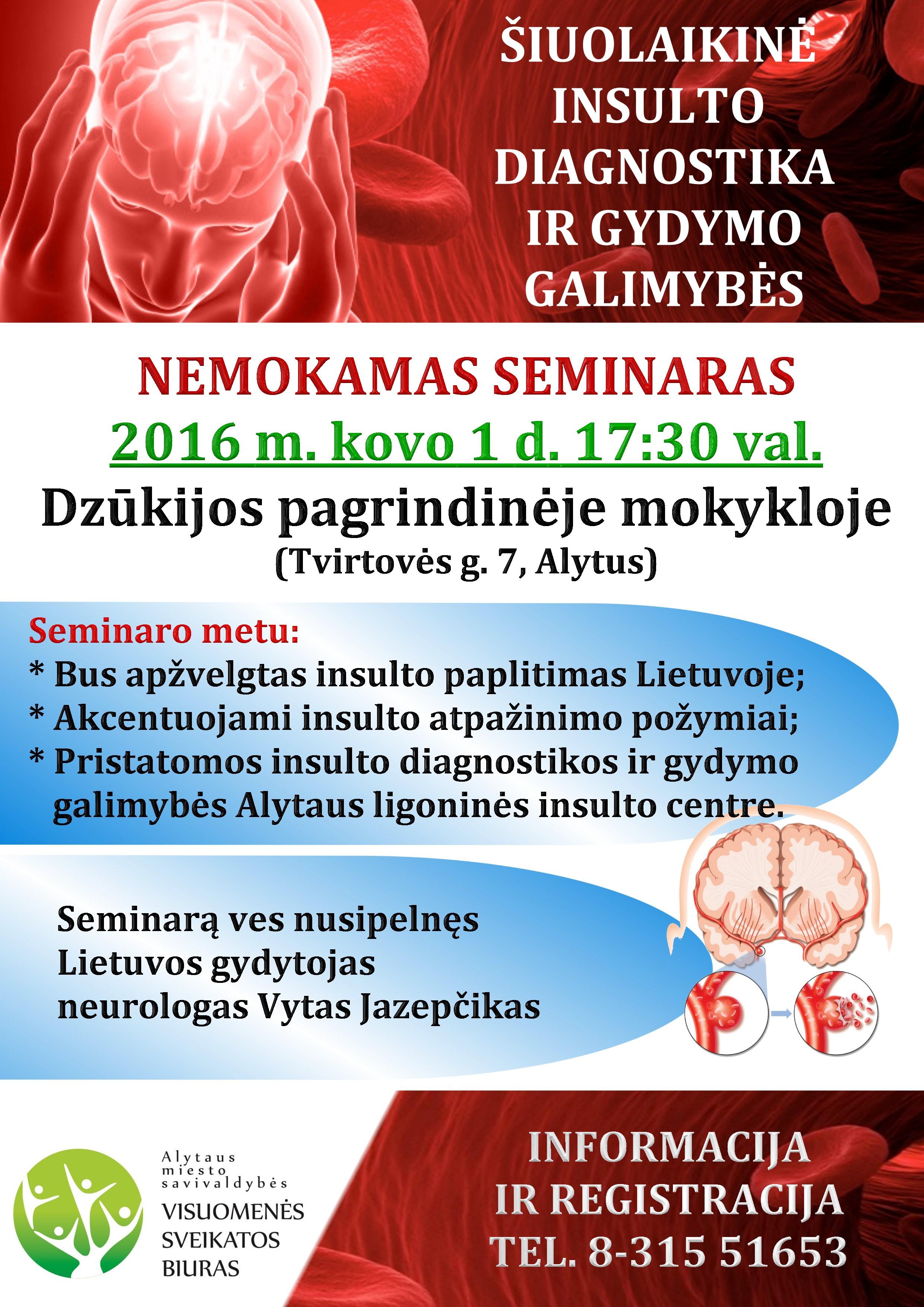 Arterinė hipertenzija ir centrinės nervų sistemos pažeidimai: neurologo požiūris | vanagaite.lt