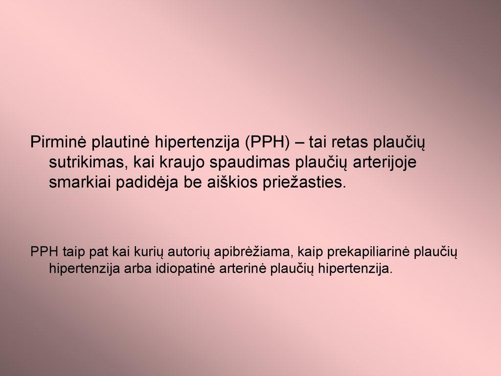 sunki plaučių hipertenzija