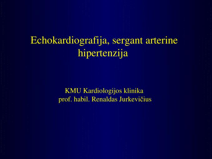 kaip nustatyti hipertenziją)
