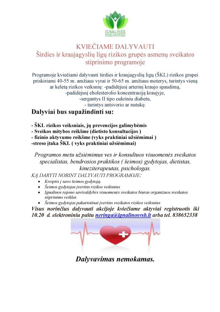 širdies sveikatos kontrolinis sąrašas suaugusiems)