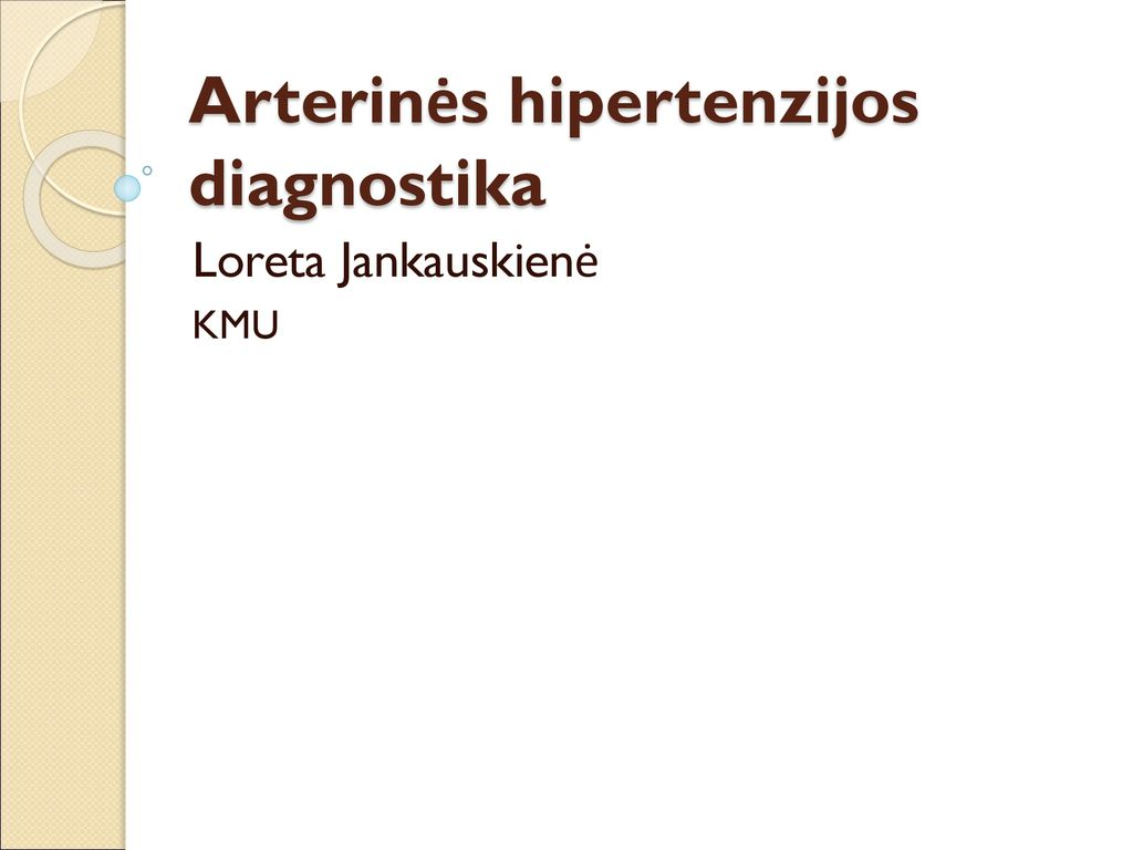 Arterinės hipertenzijos gydymas | vanagaite.lt
