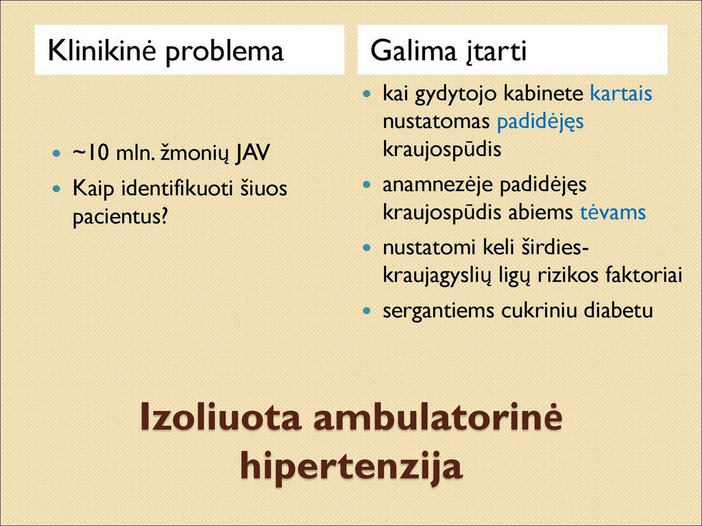 hipertenzijos diabeto gydymo metodai