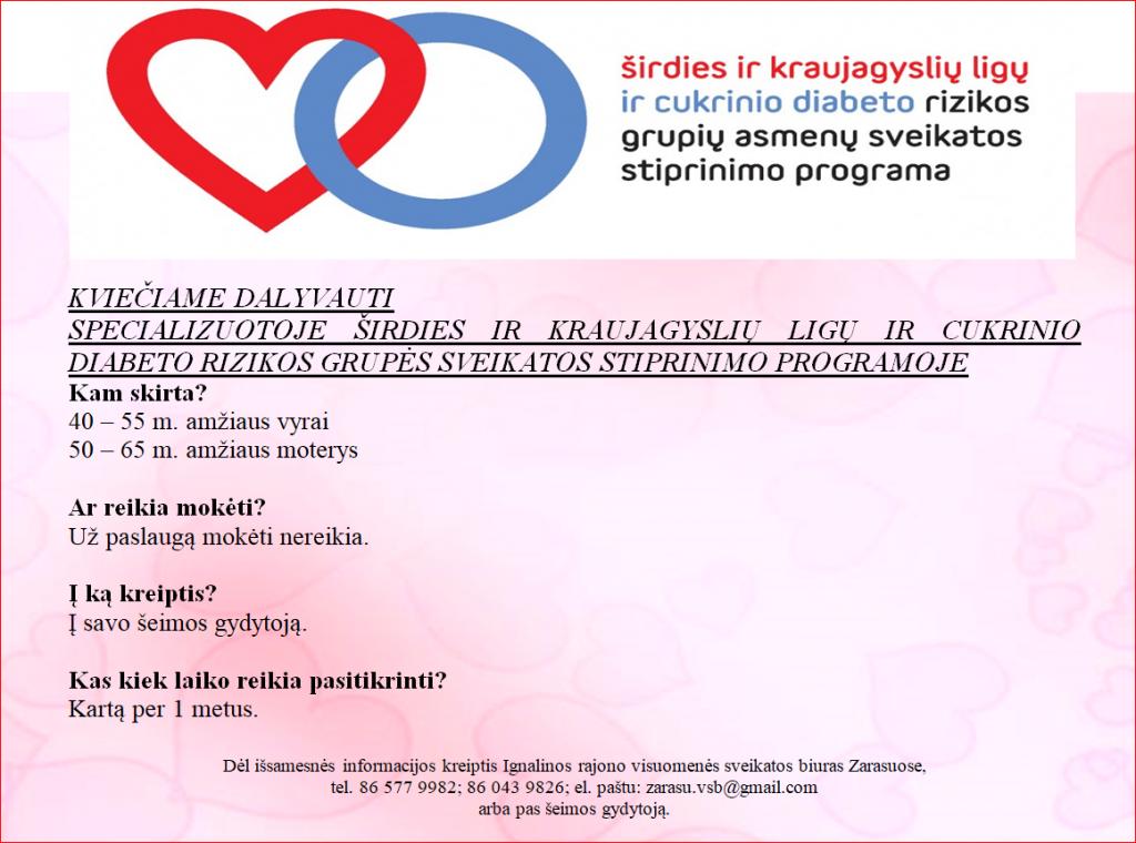 širdies sveikatos programos
