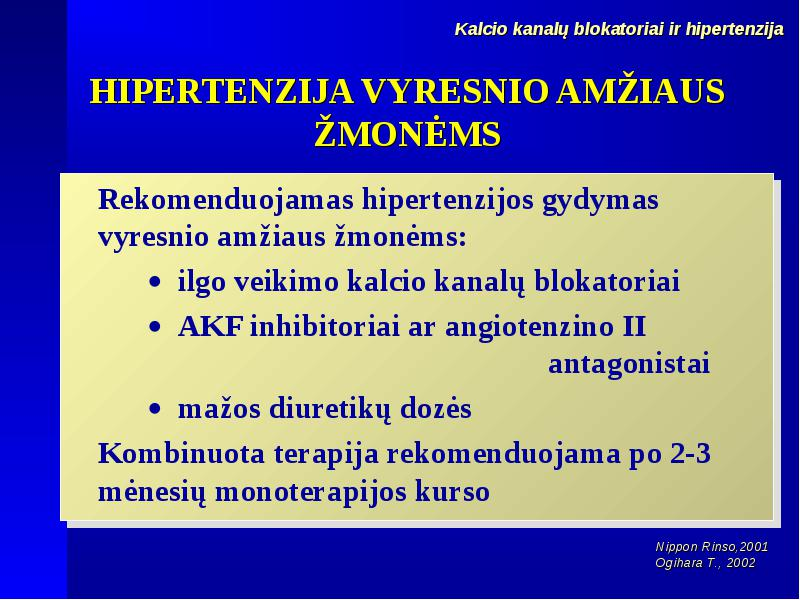 kalcio kanalų blokatorių vaistai nuo hipertenzijos)