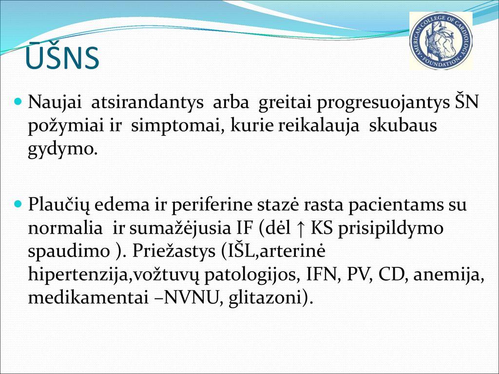 plaučių edema nuo hipertenzijos)