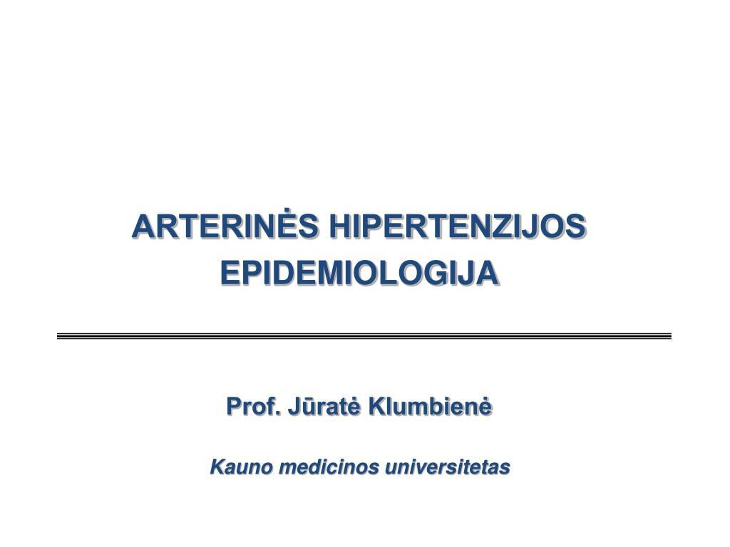 hipertenzijos nustatymas