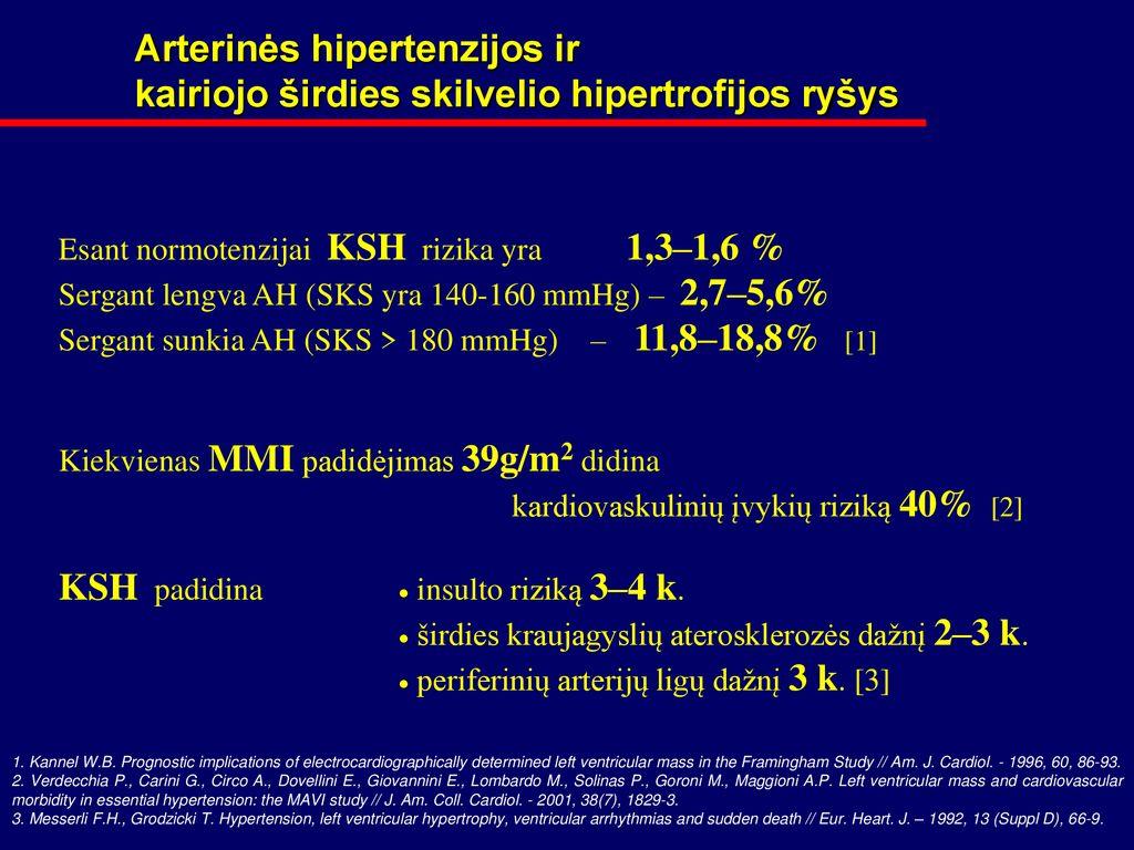 hipertenzija yra pasekmė)