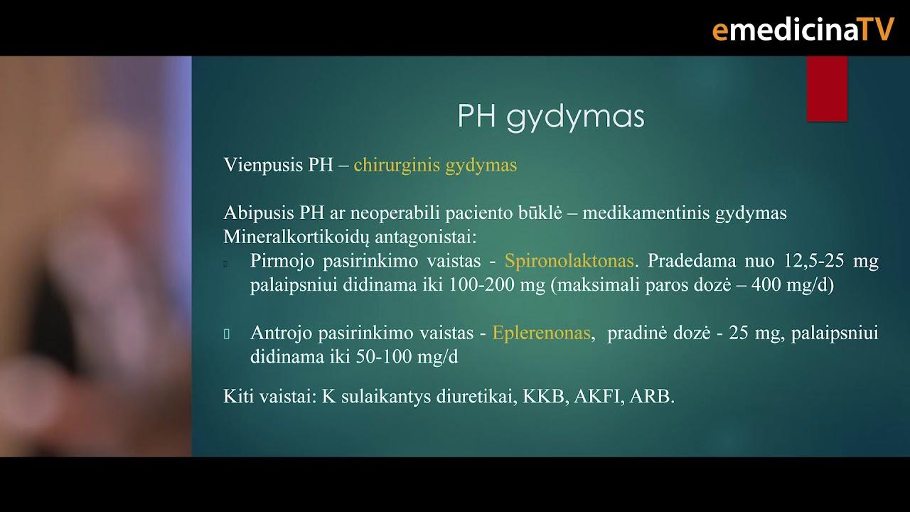 hipertenzijos gydymo naujovės)