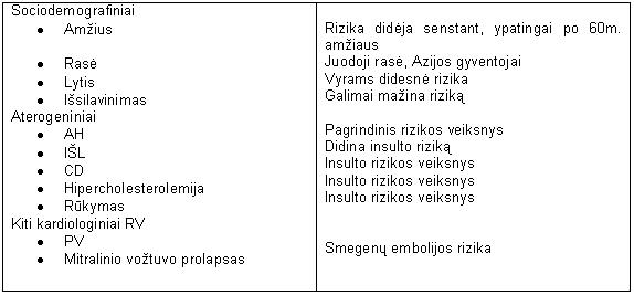 hipertenzijos insulto rizikos veiksnys