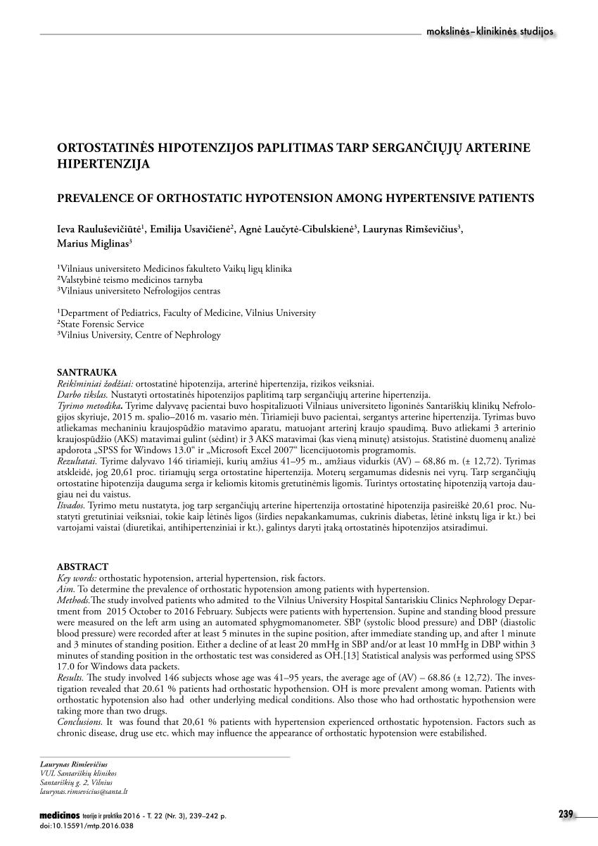 klinikinis hipertenzijos tyrimas)