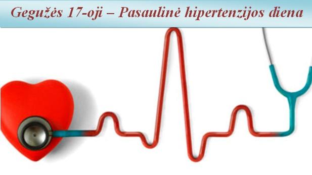 pirmiausia gydyti hipertenziją